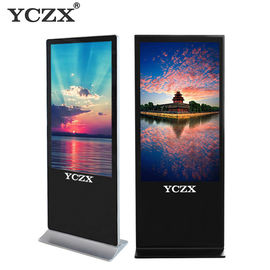 "43"" Touch Screen Floor Standing Digital Signage With Android / Windows OS"