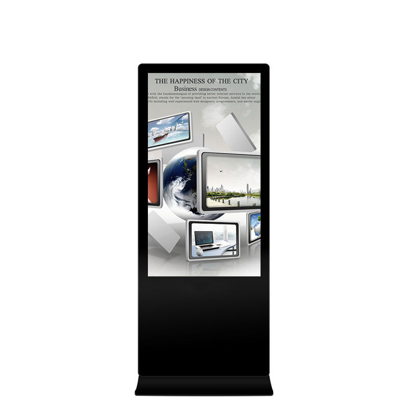 Free Standing Indoor Digital Advertising Display With LCD Touch Screen