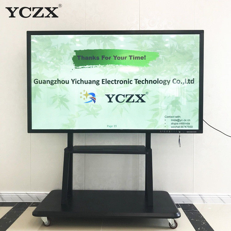 Non Folded IR Interactive Whiteboard , 86 Inch Multi Touch Screen Monitor