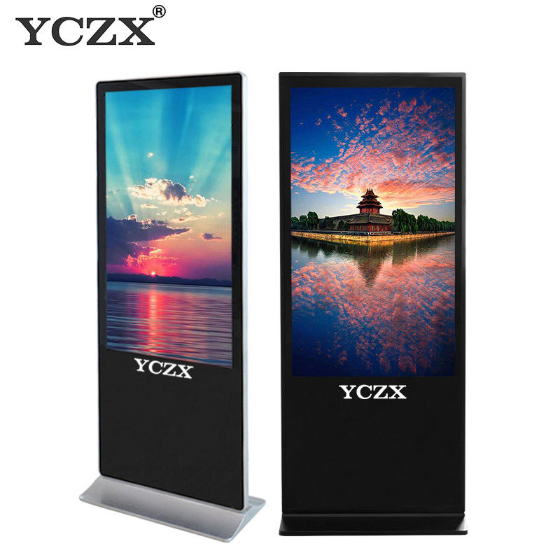 "43"" Touch Screen Floor Standing Digital Signage With Android / Windows OS supplier"